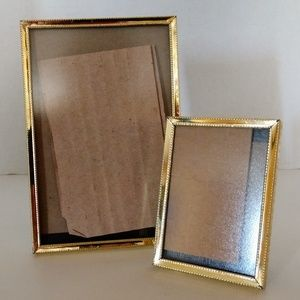 Pair Matching Vintage Gold Tone Picture Frames